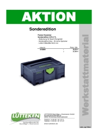 Festool Systainer - Sonderedition