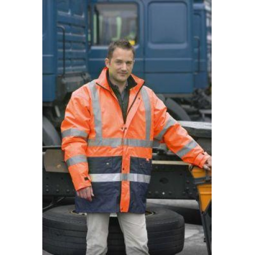 S Bekleidung & Schutzausrüstung Warnschutzparka 2in1 Alexander orange-blau Gr